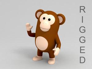 3D monkey character model