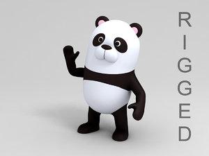 panda character cartoon 3D model