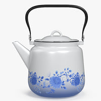3D enameled teapot model