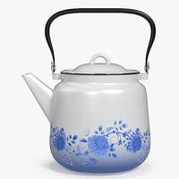 3D enameled teapot model
