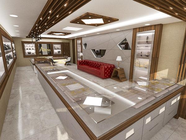 3D jeweler shopping model