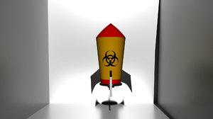 3D nuke missile model