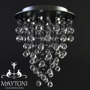 maytoni modern rockfall mod207-45-n 3D model