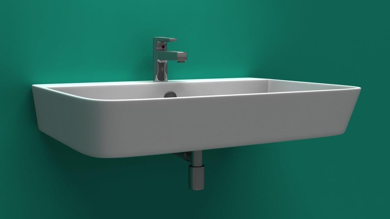 3D sink bath bathroom model