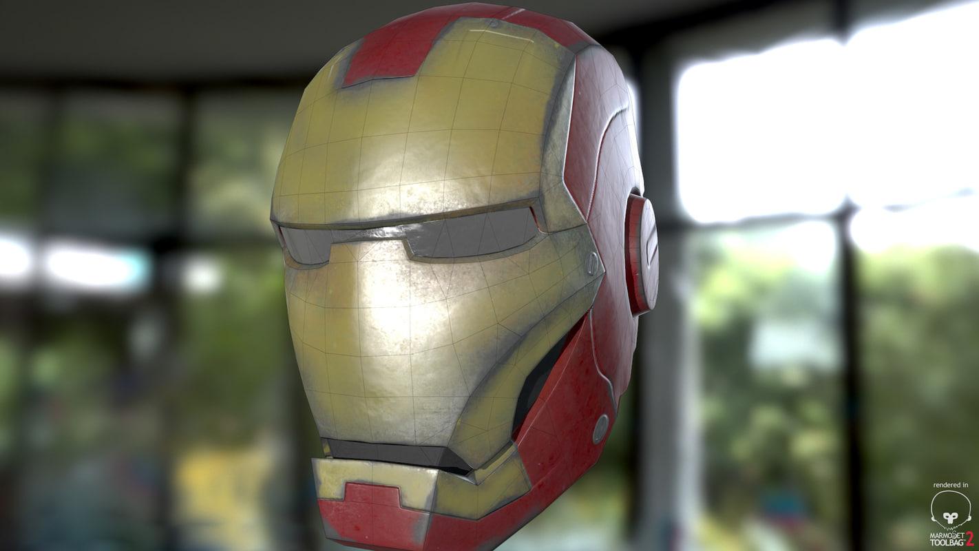 3D iron man helmet