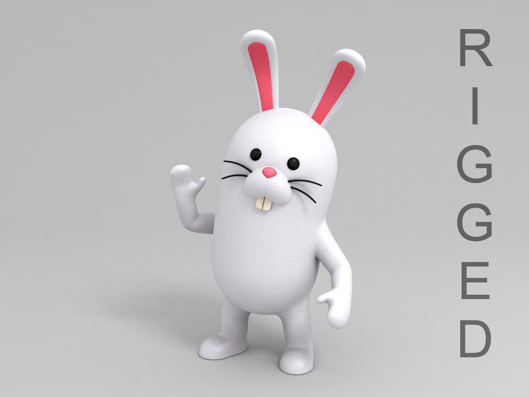 rabbit character cartoon model