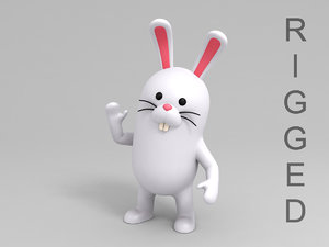 rabbit character cartoon model