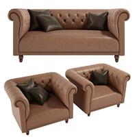 sofa york asnaghi 3D