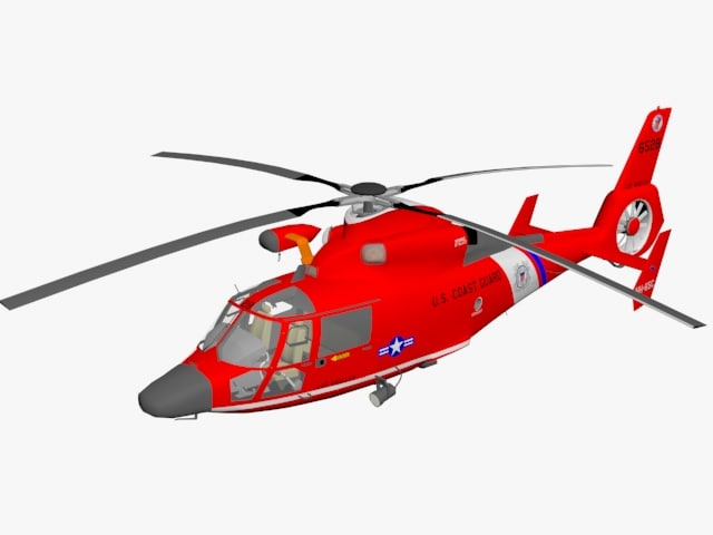 hh-65 dolphin helicopter 3D model