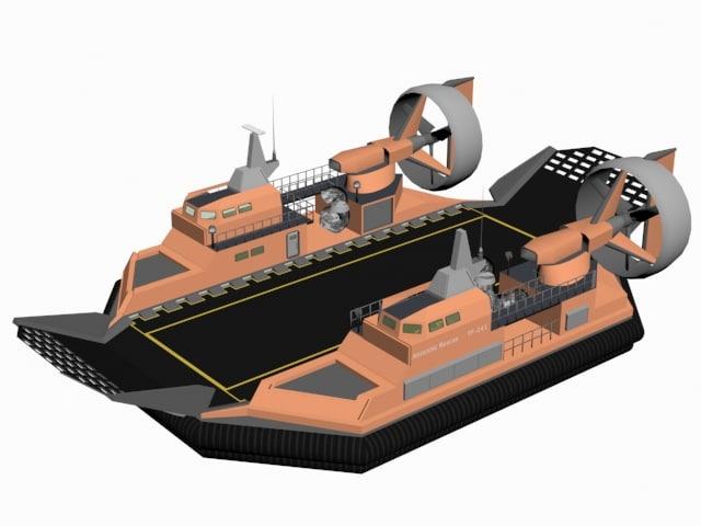 3D antarctic hovercraft