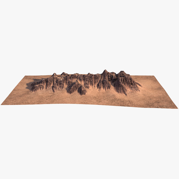 3D mountain ridge 2 model