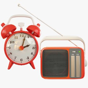 3D alarm clock transistor radio model