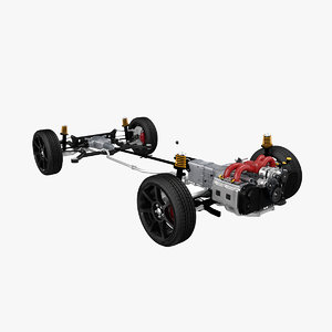 3D model awd automobile chassis
