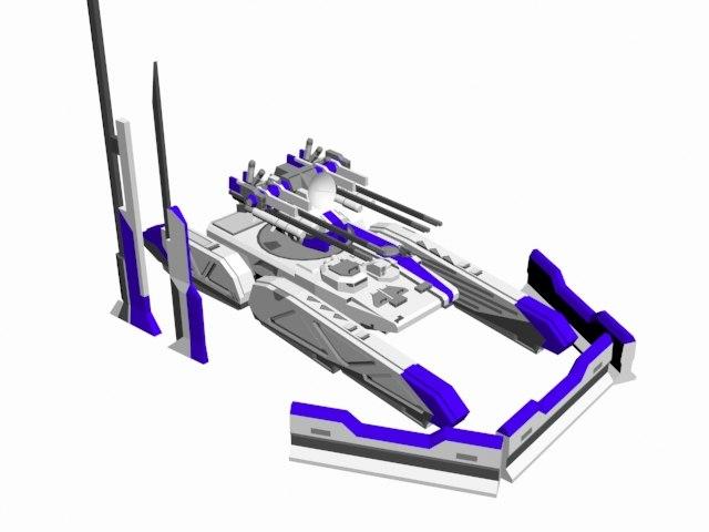 3D model chunks vehicle