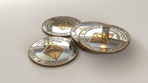 etherium coin 3D