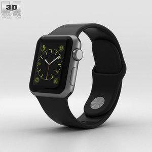 3D model apple watch sport