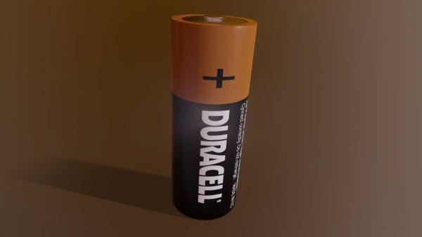 3D model duracell battery