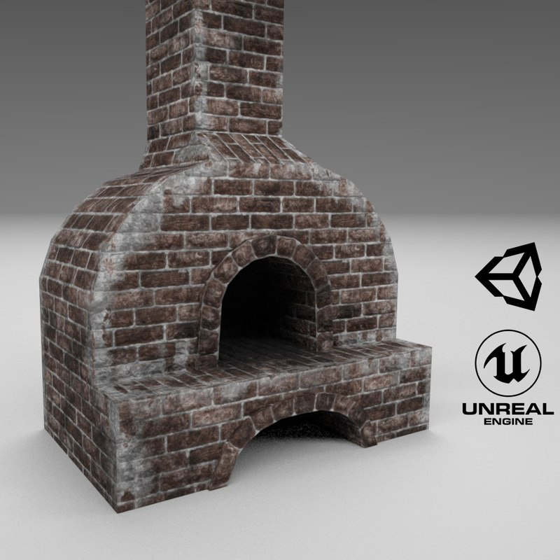 3D medieval forging furnace model