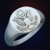 Ring for 3d printing Coat of arms USA