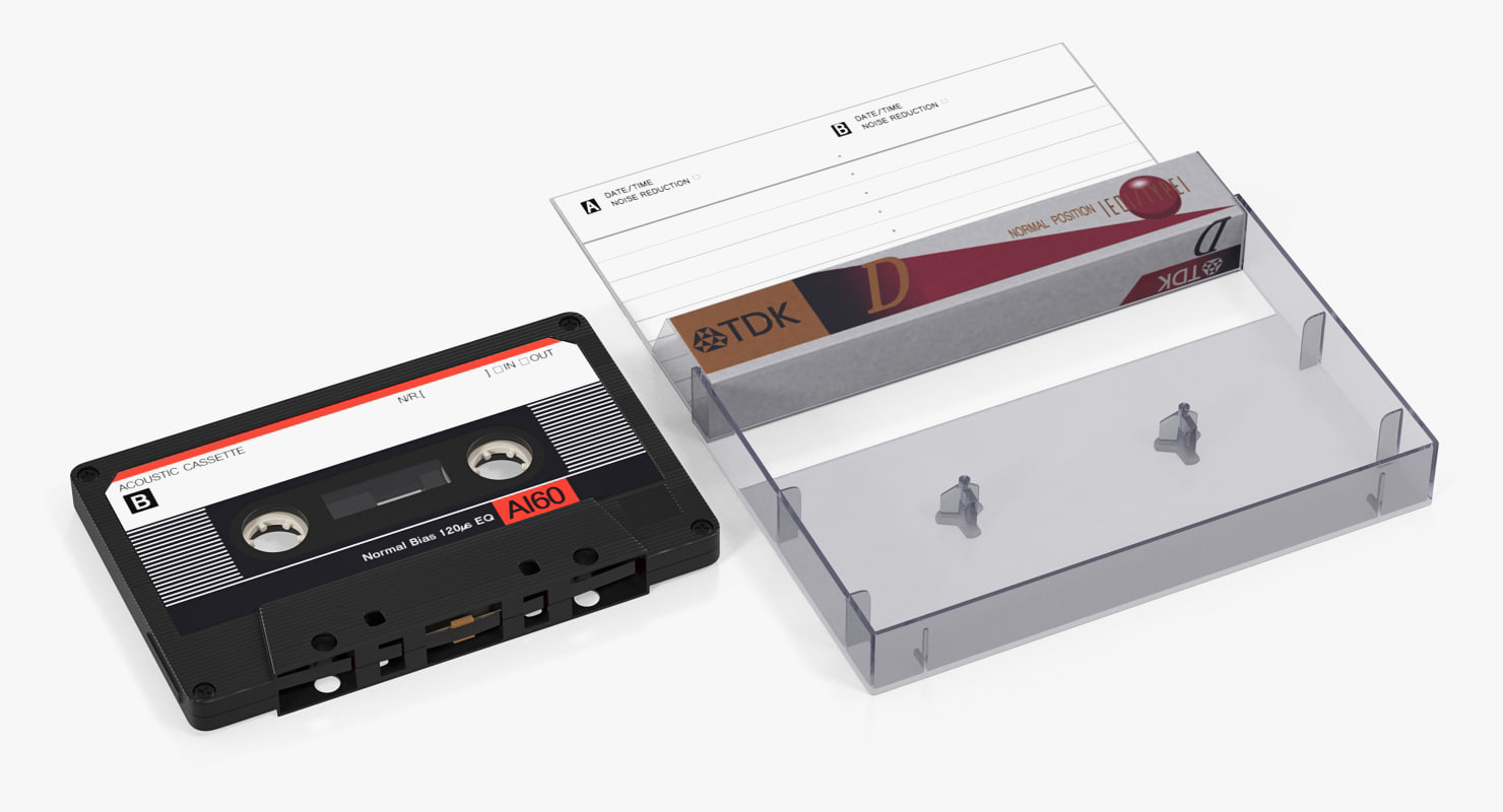 3D cassette tape box