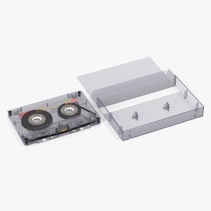 blank cassette tape box 3D model