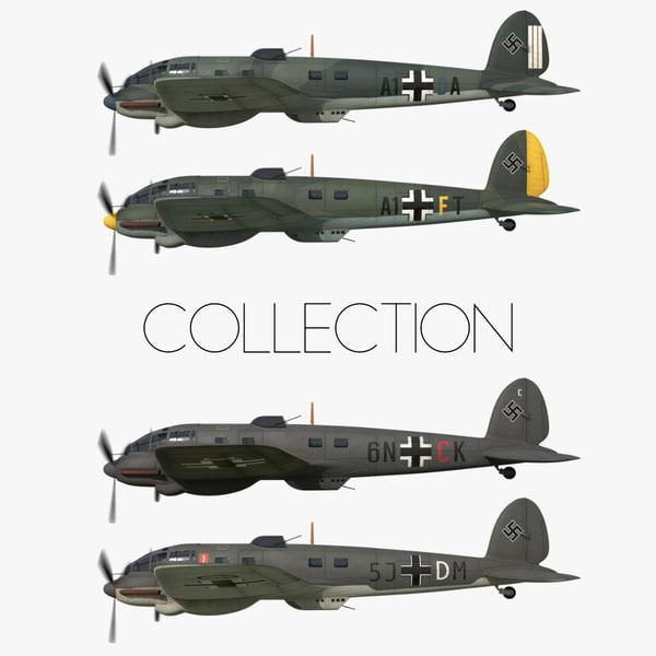 3D heinkel 111 battle britain model