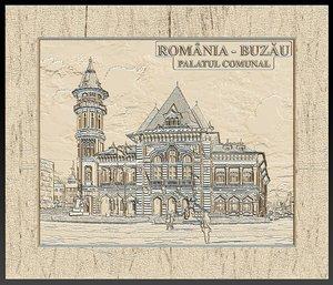 3D communal palace buzau romania