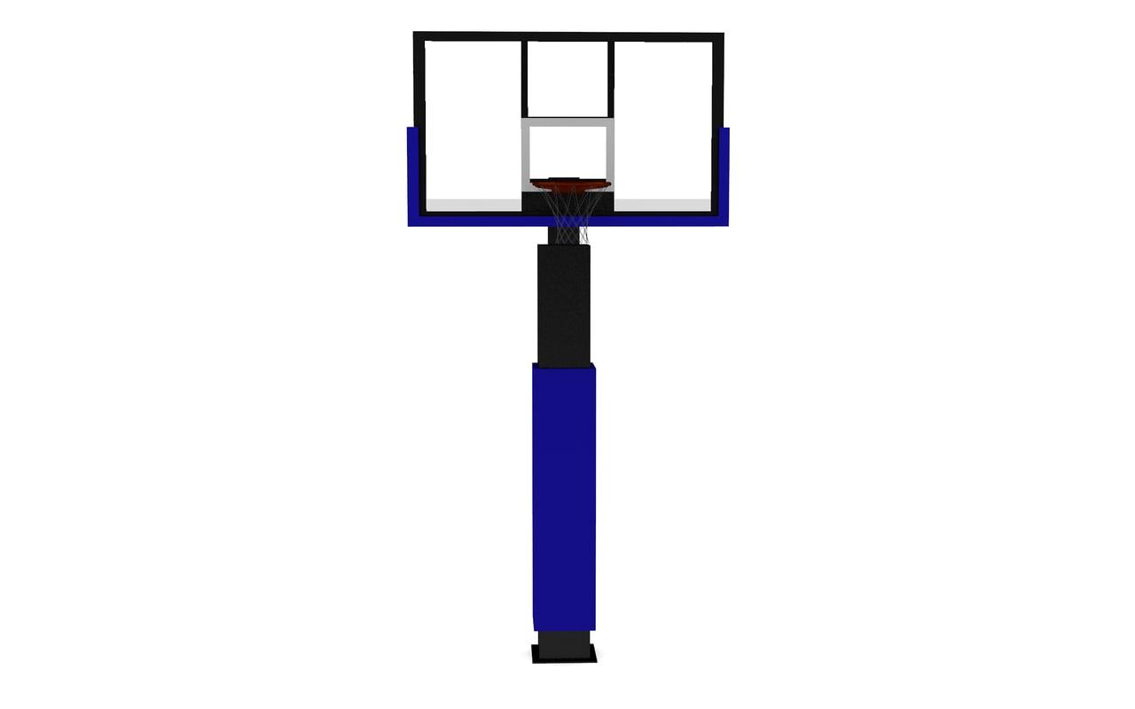 street basketball hoop 3D model