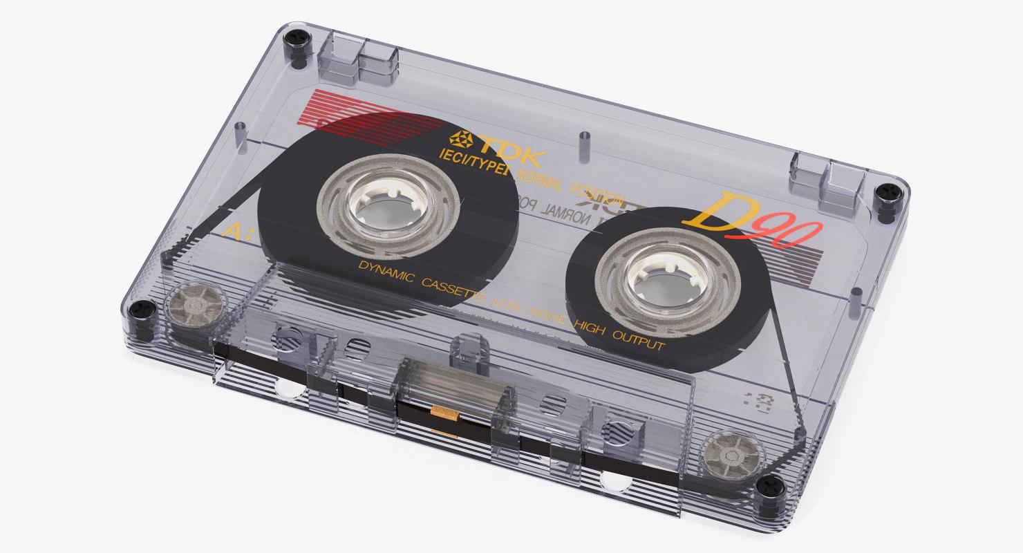 transparent old cassette 3D