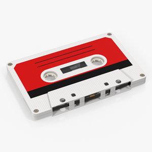 3D vintage blank cassette tape model