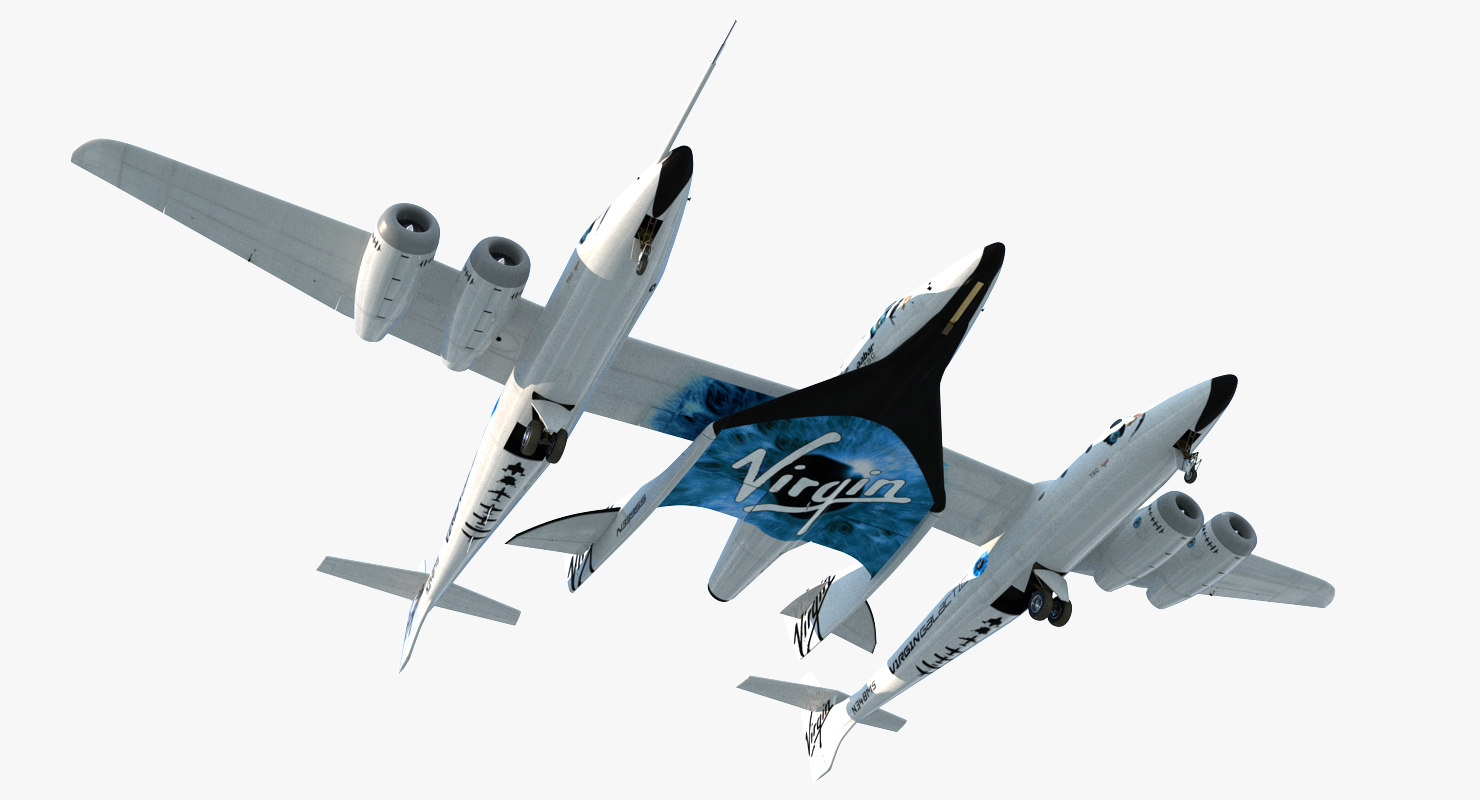 3D virgin galactic spaceshiptwo
