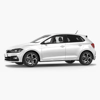 volkswagen polo 2018 simple 3D