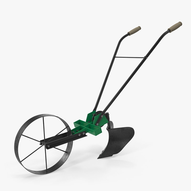 old hand plow 3D model