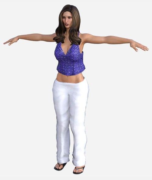 female summer 3D model