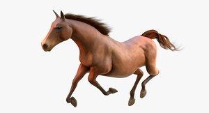 3D horse blender walk