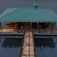 3D small harbor dock