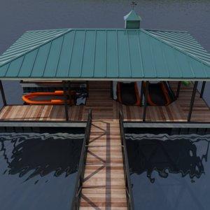 3D small harbor dock