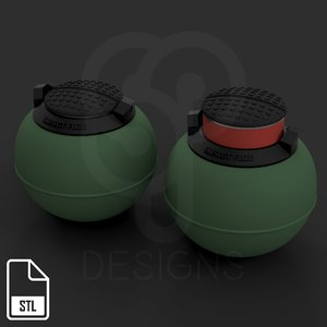 impact grenade t13 rainbow 3D model