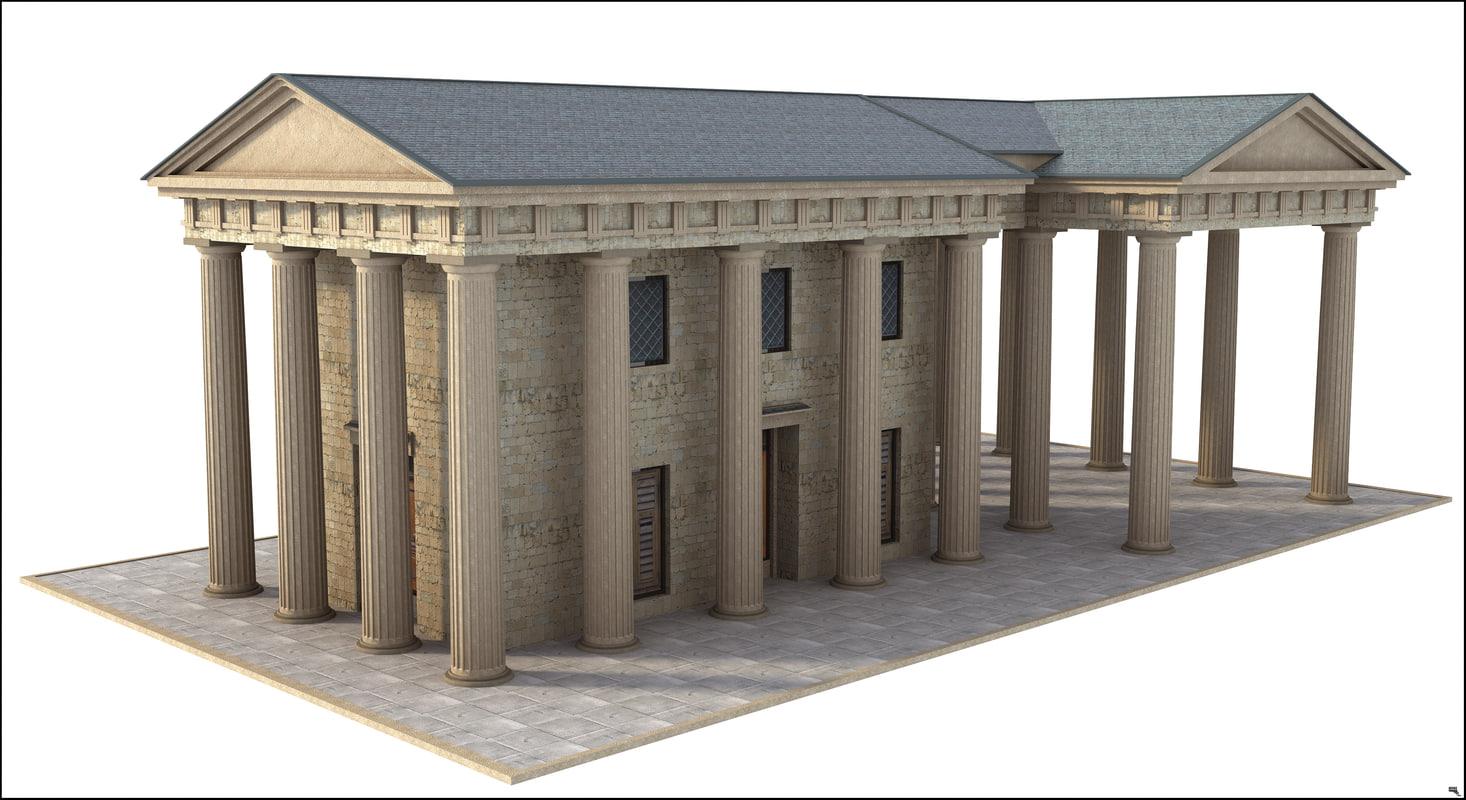 greek classi building 3D model
