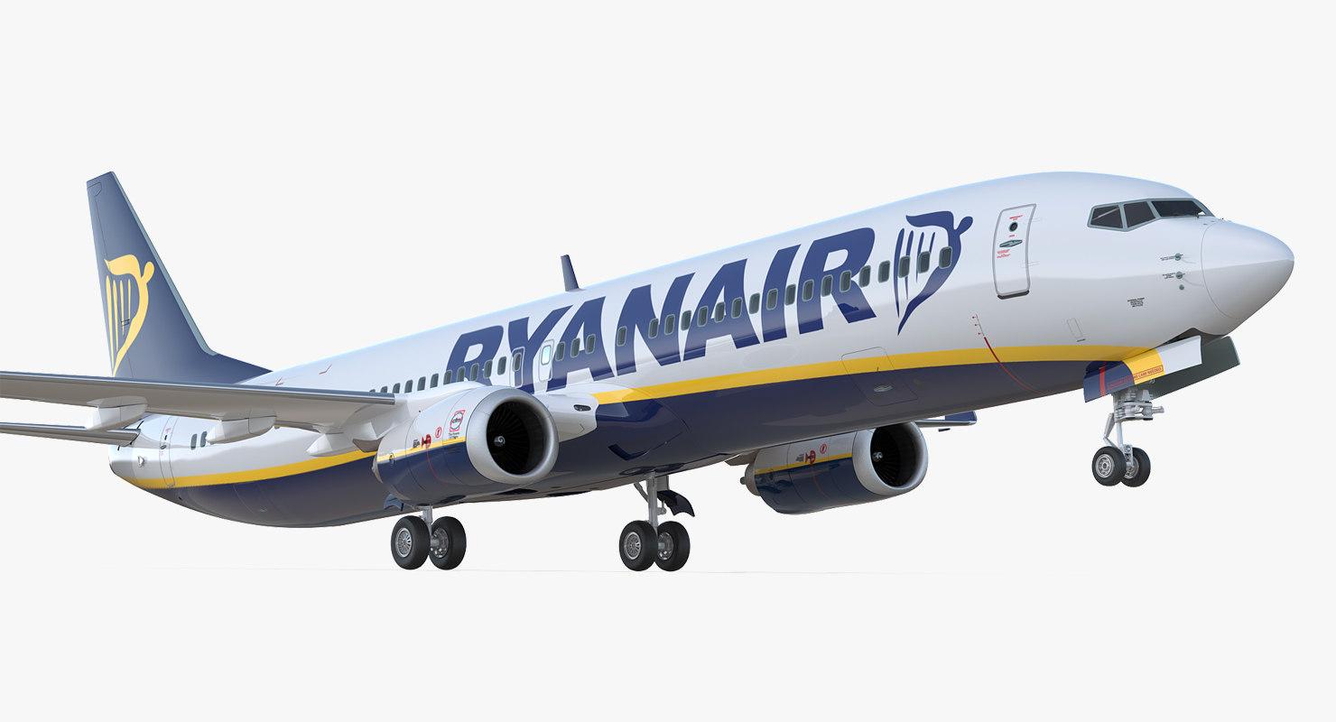 boeing 737-900 er ryanair 3D model