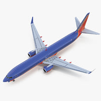 3D boeing 737-900 er southwest