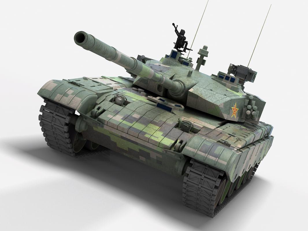 type 99 chinese tank 3D model