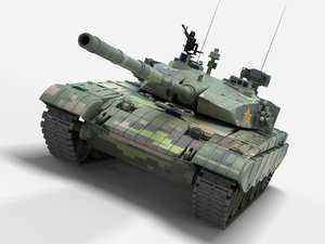 type 99 chinese tank 3D model