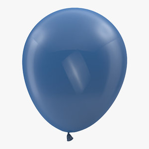 3D blue balloon model