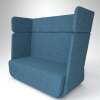 3D model interior soft line basket