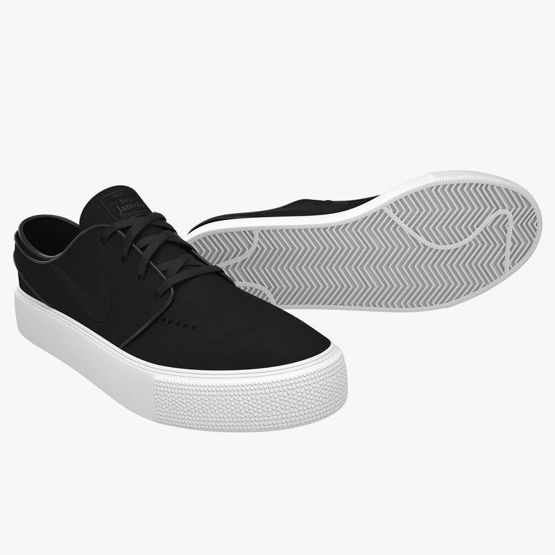 3D nike skateboarding sneakers