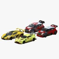 3D model pack cars 2016