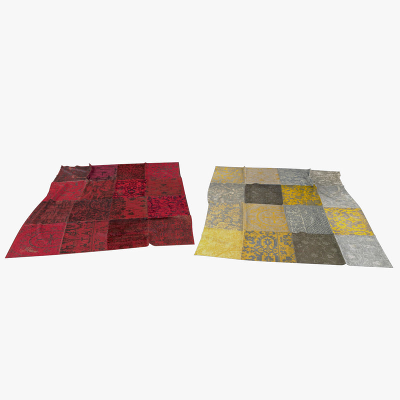 3D patchwork carpet