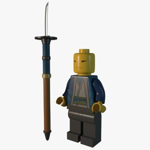 lego samurai 3D model