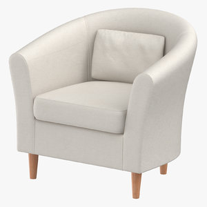 3D scandinavian arm chair